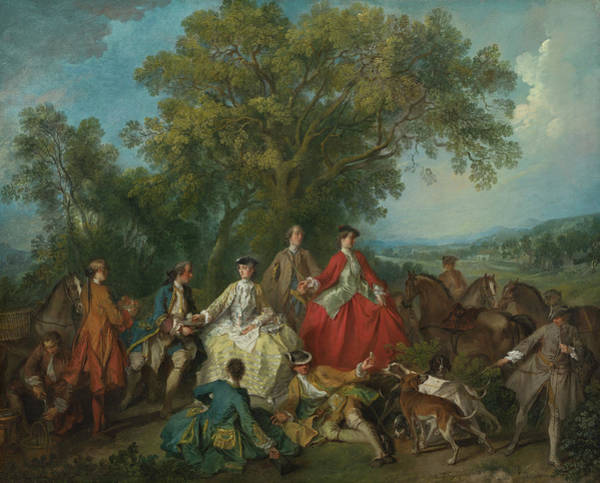 Painting - Picnic After The Hunt by Nicolas Lancret