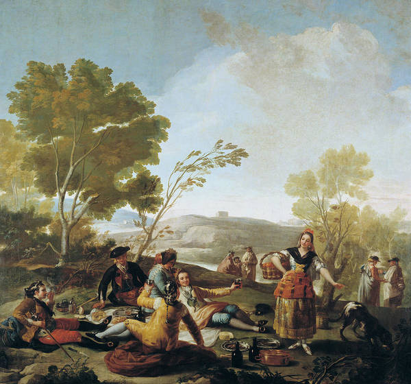 Painting - Picnic On The Banks Of The Manzanares  by Francisco Goya