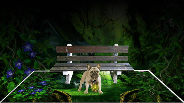 Park Bench Mixed Media - Picture This by Marvin Blaine