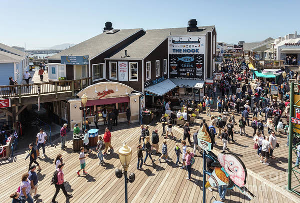 Photograph - Pier 39 In Fisherman Wharf In San Francisco, Usa by Didier Marti