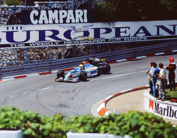 Photograph - Pierluigi Martini At 1994 Monaco Grand Prix by John Bowers