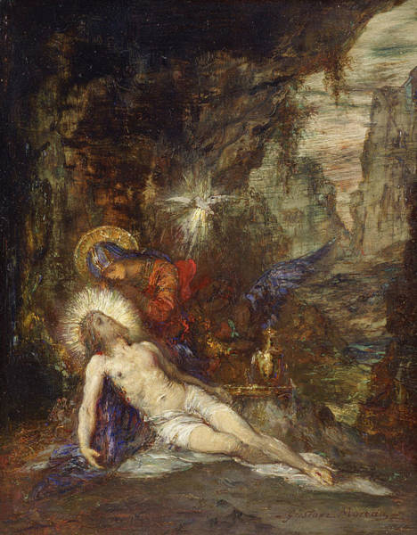Painting - Pieta by Gustave Moreau