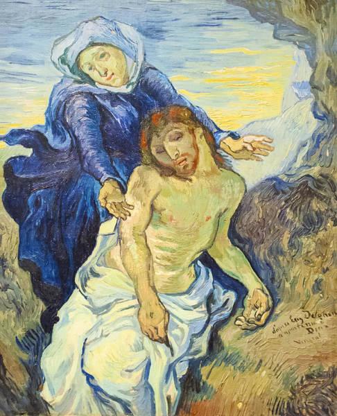 Vatican Painting - Pieta by Vincent Van Gogh