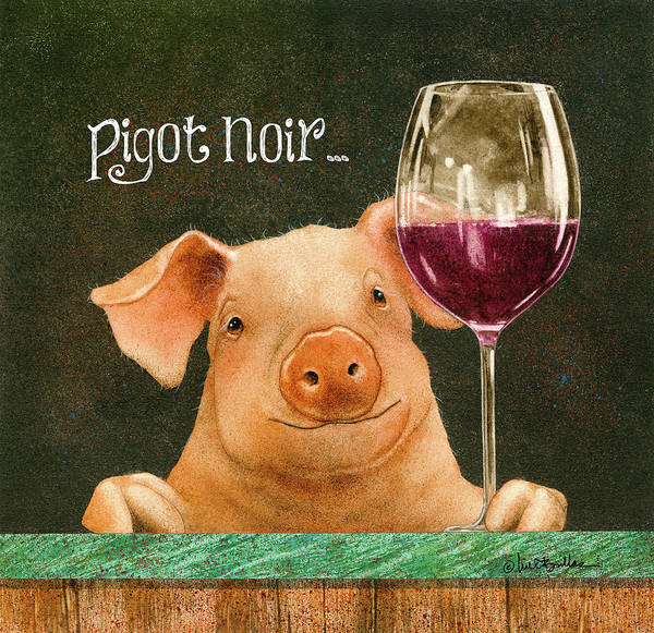 Pig Painting - Pigot Noir... by Will Bullas