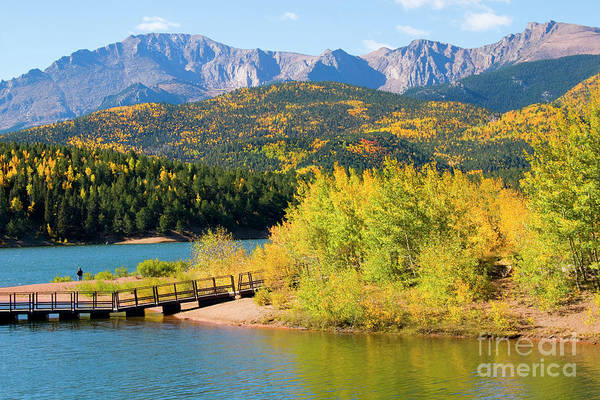 Photograph - Pikes Peak And Crystal Reservoir by Steve Krull