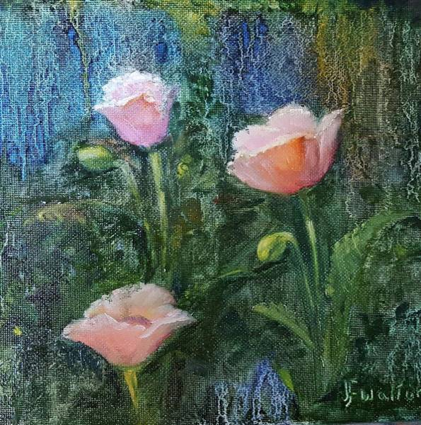 Painting - Pink Poppies by Judy Fischer Walton