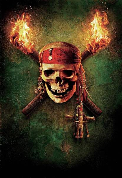 Pirates Of The Caribbean Digital Art - Pirates Of The Caribbean Dead Mans Chest 2006  by Geek N Rock