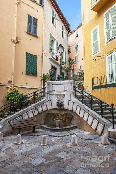 Town Square Wall Art - Photograph - Place Du Conseil In Villefranche-sur-mer by Elena Elisseeva