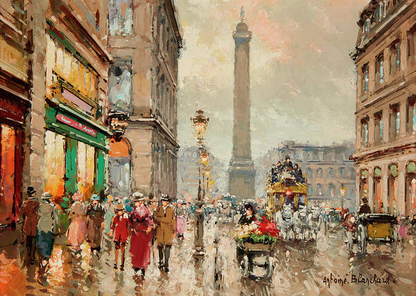 Wall Art - Painting - Place Vendome by Antoine Blanchard