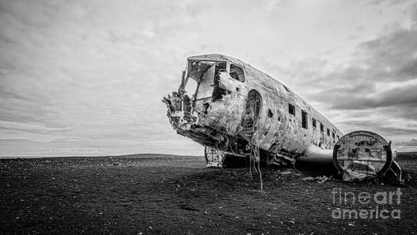 Wall Art - Photograph - Plane Crash Iceland by Edward Fielding