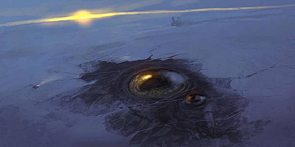 Sunset Digital Art - Planet by Maye Loeser