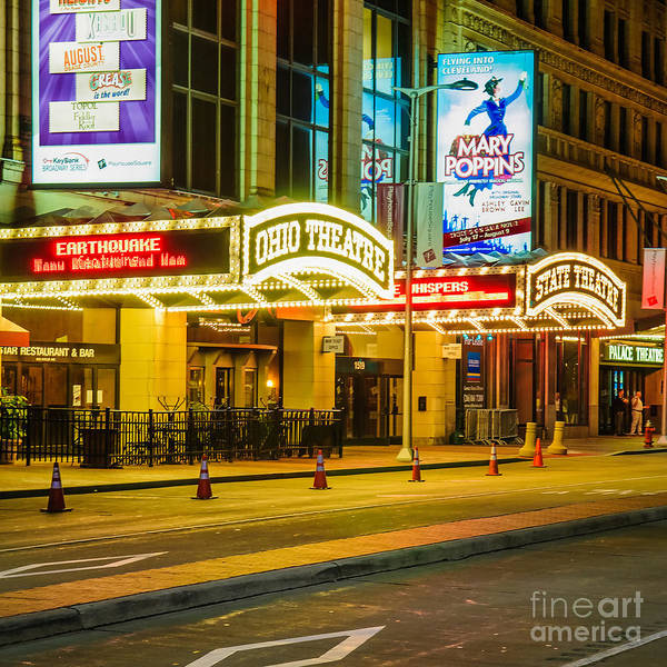 Photograph - D24u-303 Playhouse Square Photo by Ohio Stock Photography