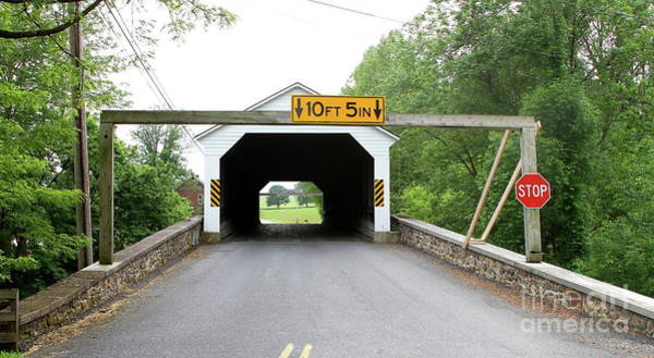 Photograph - Pleasantville Covered Bridge by Ken Keener