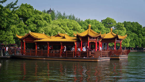 Photograph - Pleasure Boat On West Lake by George Taylor
