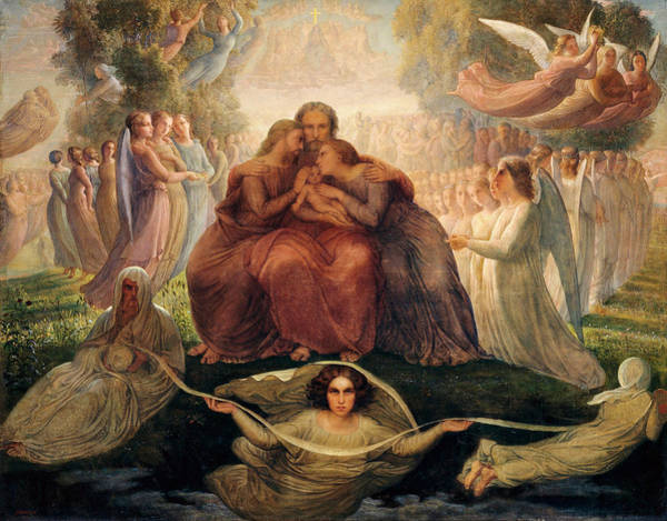 Poem Painting - Poem Of The Soul - The Ideal by Louis Janmot