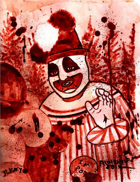 Serial Killer Painting - Pogo Painted In Human Blood by Ryan Almighty