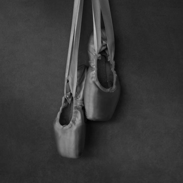 Photograph - Pointe Shoes Bw by Laura Fasulo