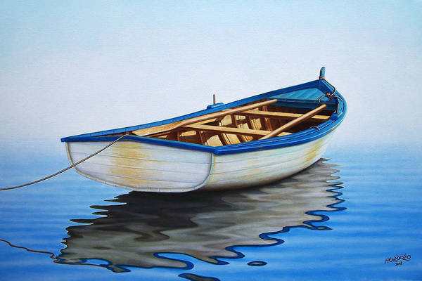 Fishing Boat Painting - Pointing Offshore by Horacio Cardozo