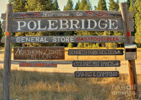 Photograph - Polebridge Business Directory by Adam Jewell