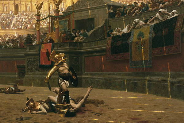 Fashion Plate Painting - Pollice Verso by Jean - Leon Gerome