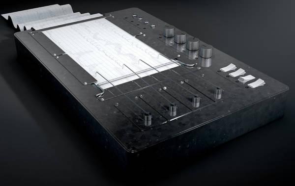 Electronic Ink Wall Art - Digital Art - Polygraph Lie Detector Machine by Allan Swart