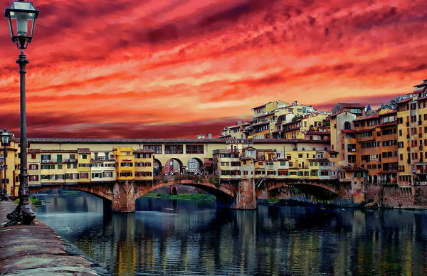 Photograph - Ponte Vecchio Bridge by Anthony Dezenzio