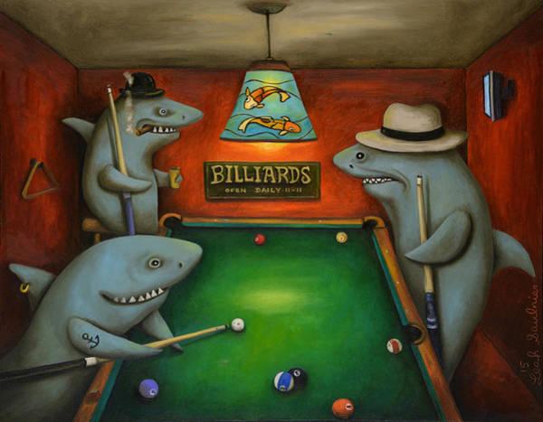 Pool Sharks Art Print