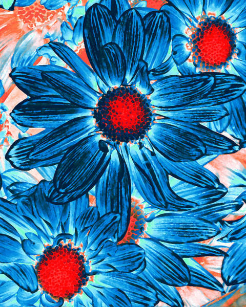 Wall Art - Painting - Pop Art Daisies 9 by Amy Vangsgard