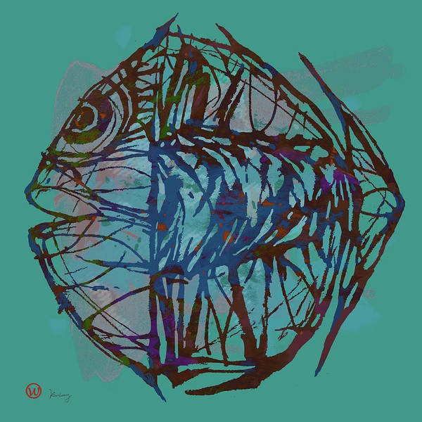 Wonderful Mixed Media - Pop Art - New Tropical Fish Poster by Kim Wang