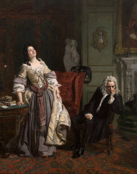 Make Love Wall Art - Painting - Pope Makes Love To Lady Mary Wortley Montagu by William Powell Frith