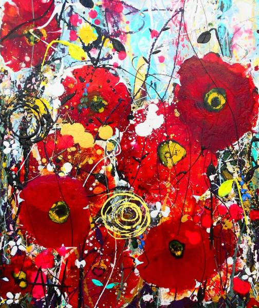 Wall Art - Painting - Poppies by Angie Wright
