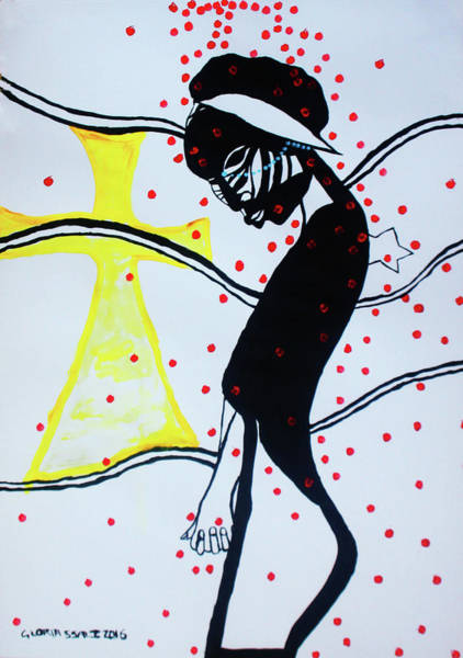 Painting - Poppies For Peace In South Sudan by Gloria Ssali