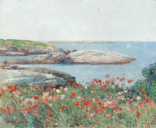 Painting - Poppies, Isles Of Shoals by Childe Hassam