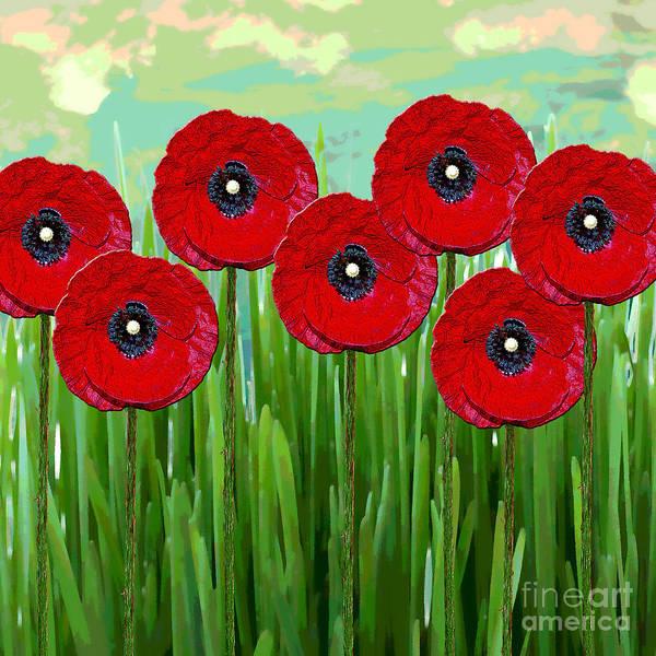 Poppies Digital Art - Poppies by Klara Acel