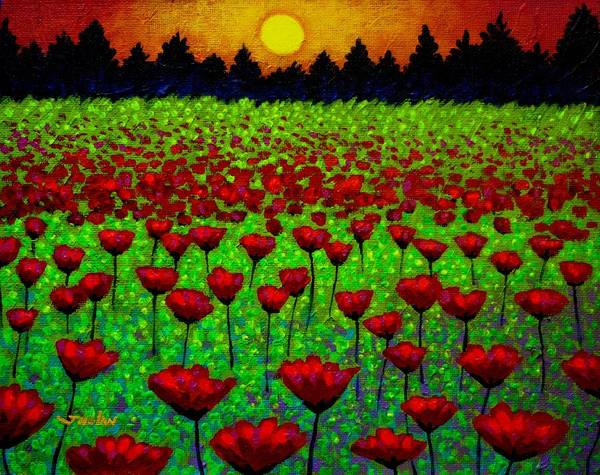 Wall Art - Painting - Poppy Carpet by John  Nolan