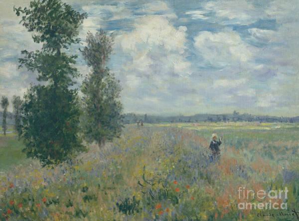 Wall Art - Painting - Poppy Fields Near Argenteuil, 1875  by Claude Monet