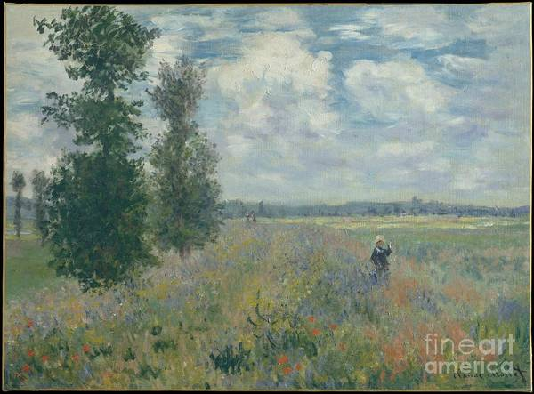 Painting - Poppy Fields Near Argenteuil by Celestial Images