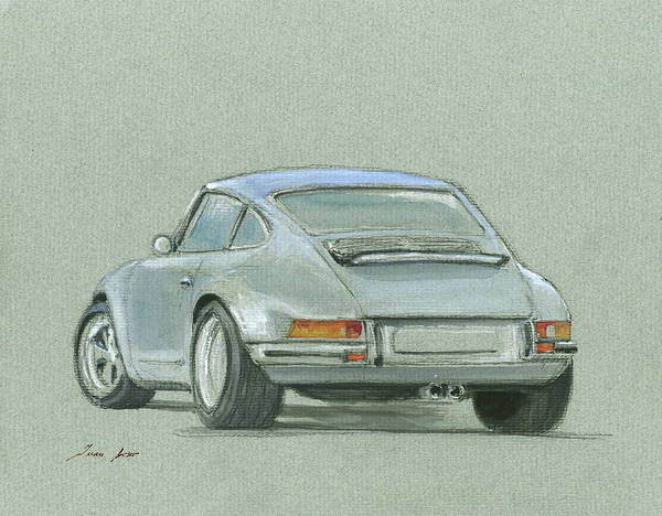 Wall Art - Painting - Porsche 911 Rs by Juan Bosco