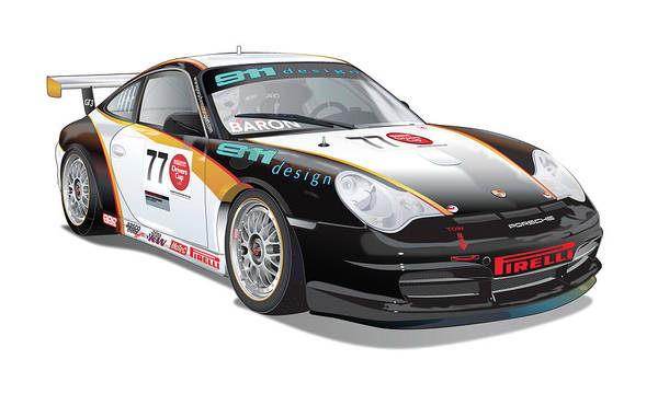Designs Digital Art - Porsche 996 Gt3 Cup by Alain Jamar