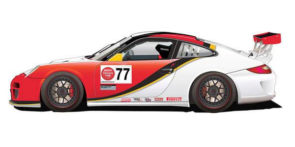Wall Art - Digital Art - Porsche 997 Gt3 Cup by Alain Jamar