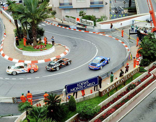 Photograph - Porsches At Loews Hairpin by John Bowers