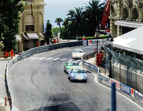 Photograph - Porsches At Monte Carlo Casino Square by John Bowers