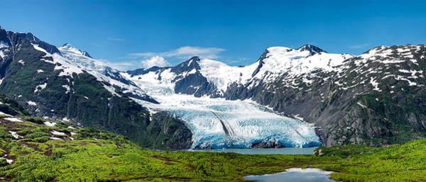Photograph - Portage Glacier by Ed Boudreau