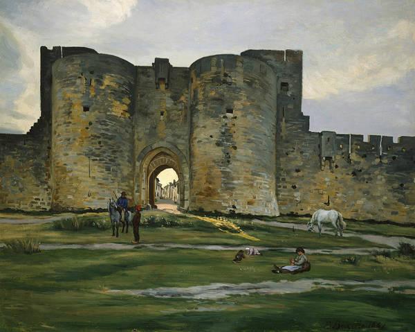 Painting - Porte De La Reine At Aigues-mortes by Frederic Bazille