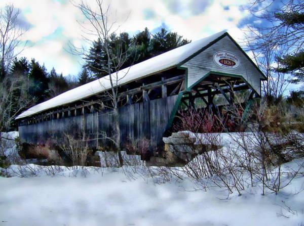 Photograph - Porter-parsonsfield Bridge by Anthony Dezenzio