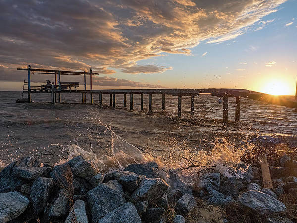 Photograph - Portersville Bay Sunset by Brad Boland