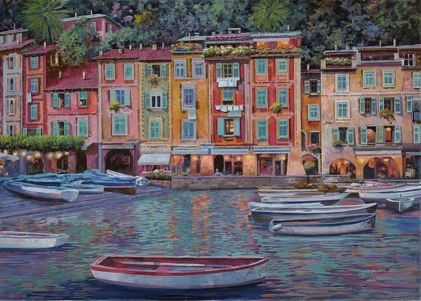 Borelli Painting - Portofino Al Crepuscolo by Guido Borelli