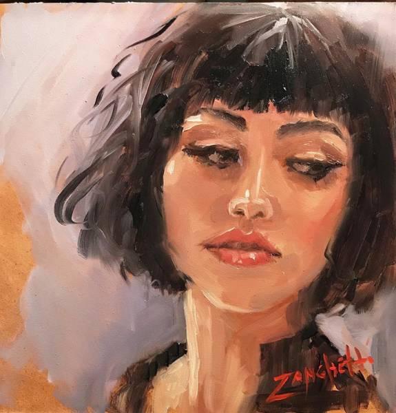 Wall Art - Painting - Portrait Demo Four by Laura Lee Zanghetti