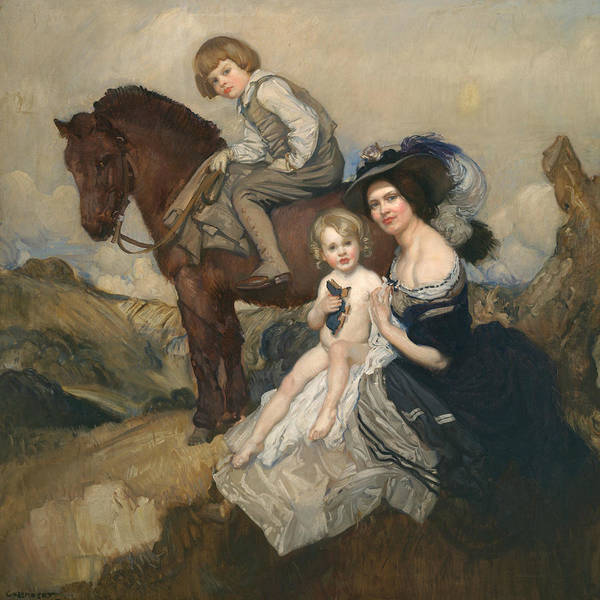 Painting - Portrait Group by George Washington Lambert