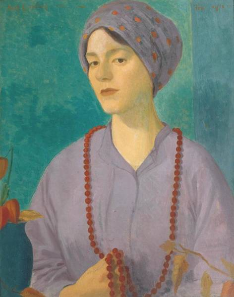 Wall Art - Painting - Portrait Of A Girl by Mark Gertler
